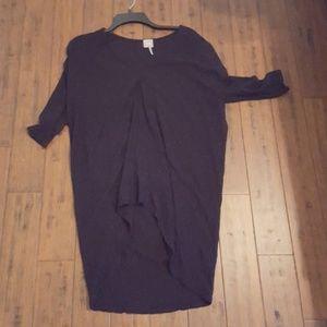 Size small 3/4 sleeve black sheer tunic